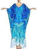 Bsubseach Women Plus Size Swimwear Bikini Cover Up Batwing Sleeve Loose Turkish Beach Kaftan Dress