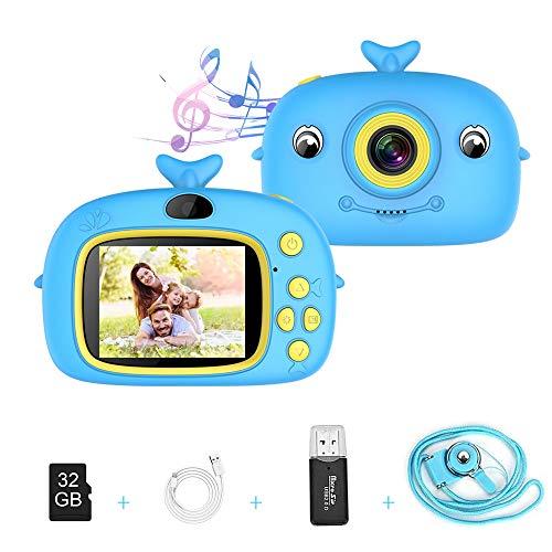 Macchina Fotografica per Bambini, 20MP Fotocamera Digitale Selfie con 2 Pollici LCD Scheda 32 GB Videocamera per Ragazze Ragazzi