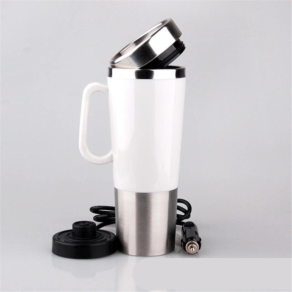 Hervidor De Agua Eléctrico,Caldera eléctrica del coche que hierve el cigarrillo de 12 voltios que encanta la mini taza eléctrica de la taza de agua creativa personalizada , 401-500ml
