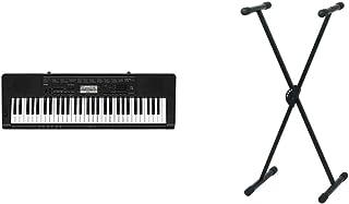 Casio CTK-3500- Teclado Digital, 61 Teclas sensibles, Estilo Piano, Negro + Pure GEWA F900520Soporte de Teclado, Patas Pe...