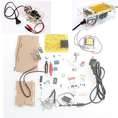 For arduino con la Caja al Bricolaje LM317 Kit de Voltaje regulado Fuente de alimentación Regulable de Bajada del módulo de baño Libre del envío Compatible with
