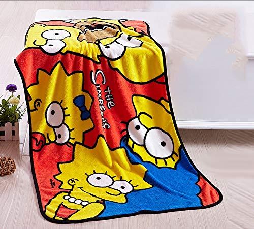 Zenghh Franela manta, Los Simpsons for adolescentes adulto, 39 * 55in banda Fleece Hoja de Manta Sofá cama Colchón cubierta del edredón del lecho del edredón de luz de terciopelo Fleece viaje Colcha a