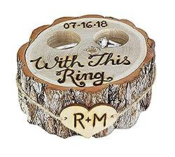 wood slice art ideas ~ ring bearer pillow