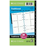 Day-Timer 2020 Weekly Planner Refill, 3-3/4' x 6-3/4', Portable Size 3, Two Pages Per Week, Loose Leaf,...