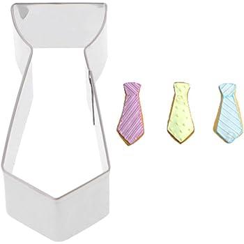 Molde cortador de galletas Besttse 3D en forma de corbata de acero ...
