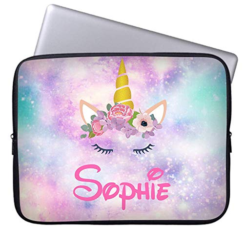 WEME Custom Personalized Unicorn Laptop Sleeve Case for Laptops and Ultrabooks Protective MacBook Air/MacBook Pro 13 Inch