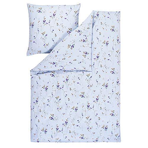 EStella Abetone Bed Linen Light Blue, Cotton, light blue, 135 x 200 + 80 x 80