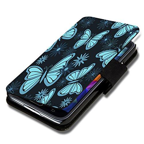 Book Style Flip Handy Tasche Hülle Schutz Hülle Schale Motiv Etui für Wiko Wax - Flip A50 Design8