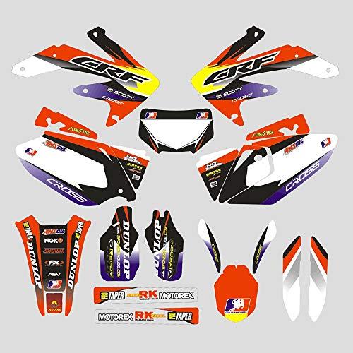 JFGRACING Personnalisé Moto Complet Adhésif Stickers Autocollants Graphiques Kit pour Honda CRF450X 05-07