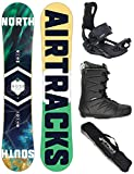 AIRTRACKS Snowboard Set - Board North South 156 - Fijaciones...