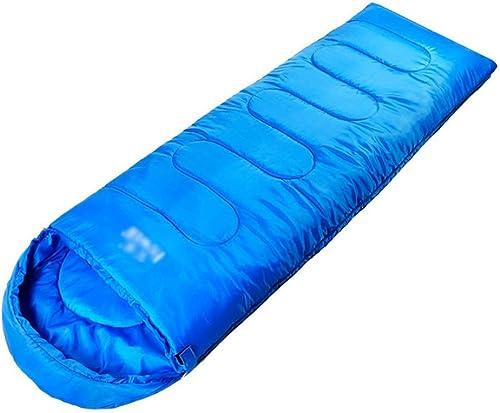WYJW Sac de Couchage - Imprimé Imitation Soie de Polyester 190T, Sac de Couchage Double pour Adultes en Plein air, Camping en Plein air, Tailleur Chaud et Chaud, Convient à  Pause déjeuner à l'in