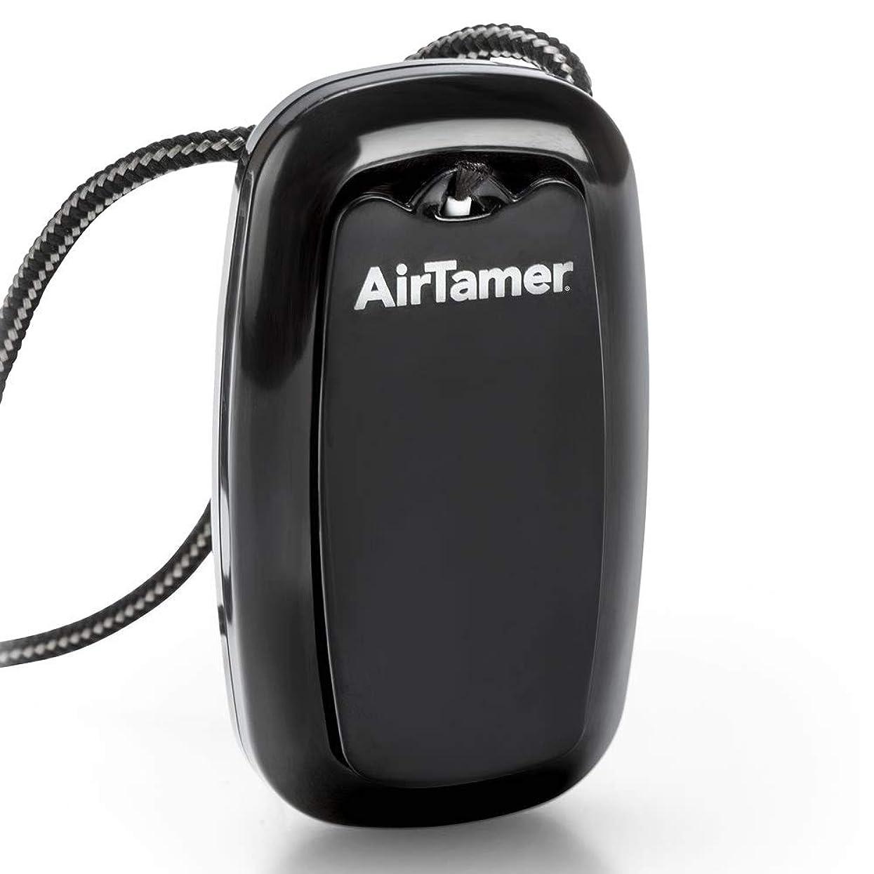 ディスパッチ押し下げるラフトタバコの副流煙対策に USB 携帯型 首掛け式 空気清浄機 イオン発生器 エアー テイマー G ブラック (ATMR-7-B)