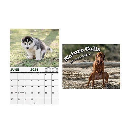 2021 Hunde kacken Kalender Geschenk Wandkalender 12-Monats-Zeitplan Kalender Papier (A)