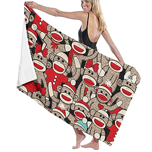 Celebrate Big Mouth Monkey - Toalla de baño, secado rápido, suave, 130 x 80 cm