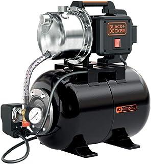 Black+Decker BXGP1100XBE Bomba Autoaspirante con Caldera para Aguas Limpias (1.100 W, Caudal max. 4.600 l/h, Prevalencia m...