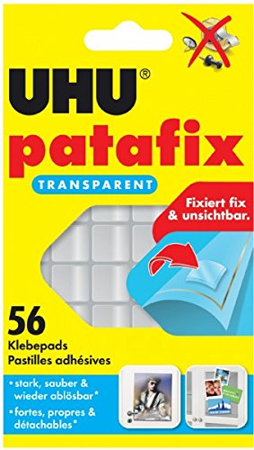 UHU 48815 Klebepads patafix, wieder ablösbar, transparent