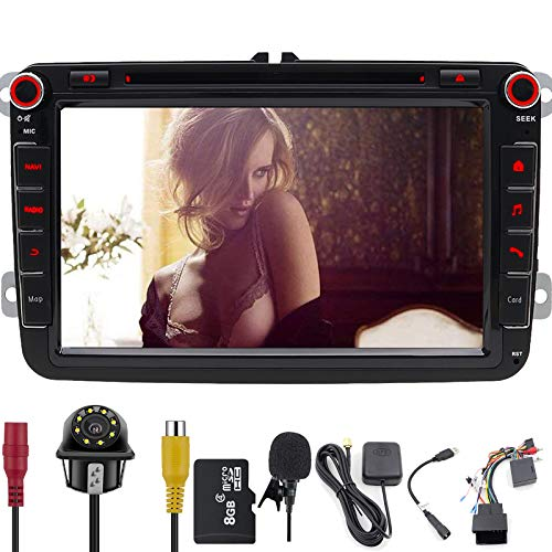 FOIIOE 20,3 cm 2 Din Touchscreen Autoradio DVD-Player Sa NAV im Dash GPS Navigation Bluetooth Autoradio für VW Volkswagen Golf Passat Touran Seat Skoda