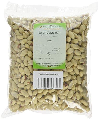 Naturix24 Erdnüsse roh und gehäutet - Beutel, 2er Pack (2 x 1 kg)