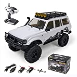 EAZYRC RC Cars 1:18 Scale 2.4Ghz Remote Control Car RTR Vehicle, All Terrain Hobby 4WD Off Road Monster Truck RC Crawler for Kids and Adults - Batteries x2