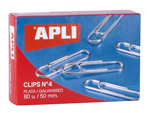Apli 11716 Caja Clips, Plata, 50 Mm