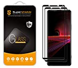 (2 Pack) Supershieldz Designed for Sony (Xperia 1 III) Tempered Glass Screen Protector, (Full Screen Coverage) Anti Scratch, Bubble Free (Black)