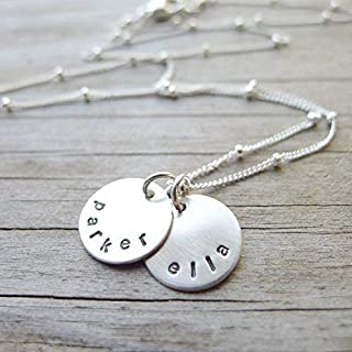 circle name necklace for mom