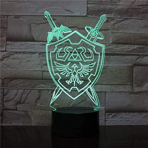 XLLQYY La légende de Zelda veilleuse LED panneau Táctil capteur Lampe Decorative Enfant Enfants present veilleuse Lampe de Table Zelda Chambre-2_7_Colors_no_Remote