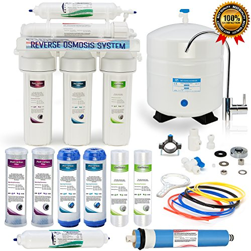 Global Water RO-505 5-Stage Reverse Osmosis System Water Quality Filter- 24 HOUR USA Tech Support -...