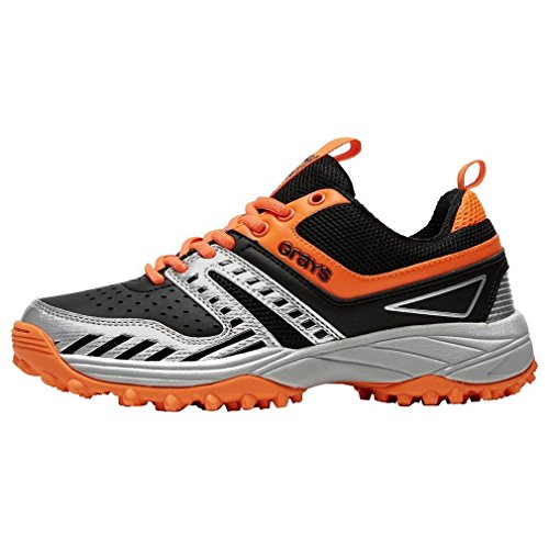Grays GRAYS G500 Hockeyschuhe Kinder, Schwarz/Orange, 36