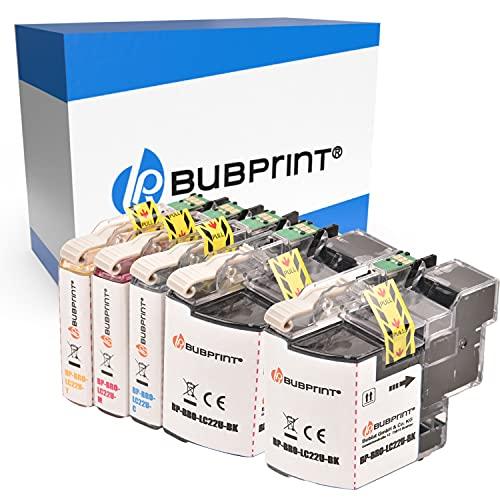 Bubprint Kompatibel Druckerpatronen als Ersatz für Brother LC-22U LC22U LC-22UBK LC22UC LC22UM LC22UY für DCP-J785DW MFC-J985DW Schwarz Cyan Magenta Gelb 5er-Pack