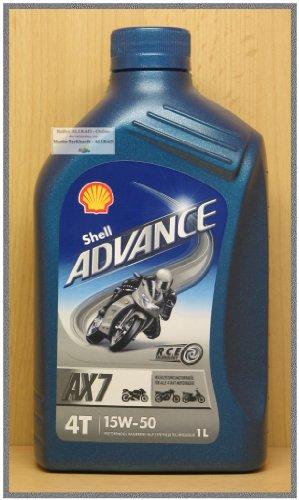 Shell Advance 4T AX 7 15W-50 (Nachfolger des VSX 4T 15W-50) / 1-Liter-Dose