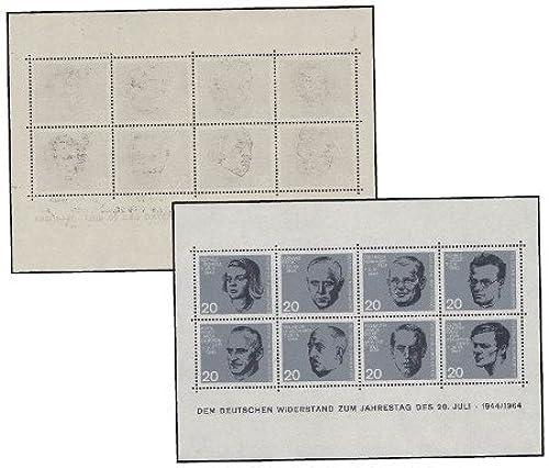 Goldhahn BRD Bund Block 3 postfrisch  mit rückseitigem Abklatsch Briefmarken für Sammler