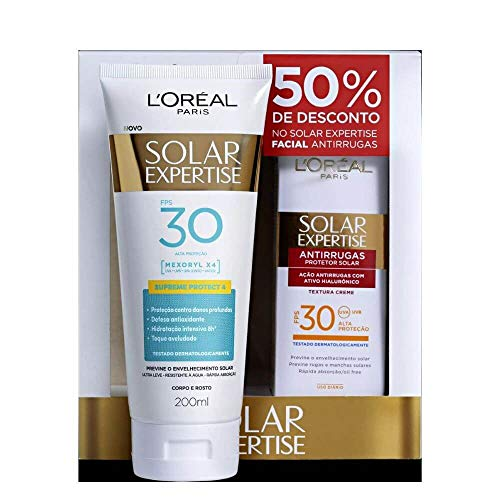 Protetor Solar L'oréal Solar Expertise Supreme Protect FPS 30 Loção 200ml + Grátis Solar Expertise Facial Antirrugas 25g