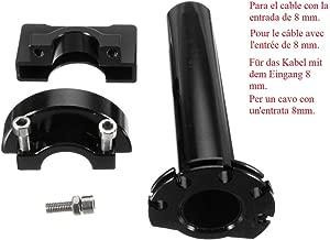 Motocicletta Semi manubrio semimanubri ricambio tubo Barra 22mm con cursore nero