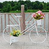 Estanteria Para Plantas Soporte para carro de maceta con soporte para plantas de bicicleta, ideal para patio de jardín casero, regalo para amantes de las plantas, soporte para triciclo redondo estil