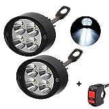 HopeU5® Universal Motorcycle/Electric Car 4Leds Lampada faro Fendinebbia Spotlight guida luce ausiliaria (confezione da 2)