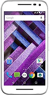Motorola Moto G3 Turbo Edition XT1557 4G LTE Dual SIM 16GB Factory Unlocked No Warranty Octacore Water Resistant (White)