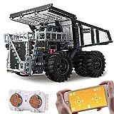 GRTVF Control Remoto Bloque de construcción de Camiones de volteo Modelo de Kits de construcción, Kit de Modelo de camión RC de 2.4 GHz, Regalo de Juguete de cumpleaños para niños de 8+ años, 2044pcs