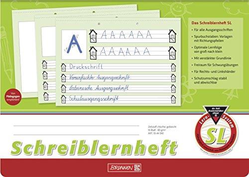Brunnen Schreiblernheft A4 quer, 16 Blatt (2er Pack, Lineatur SL)