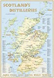 Whisky Distilleries Scotland - Poster 70x100cm Standard Edition: The Scottish Whisky Landscape in Overview