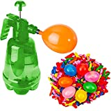 Botella con Hinchador Y 100 Globos Agua juegos y diversion para niños en verano