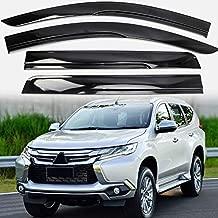 Alina-Shops - For Mitsubishi Pajero Montero Shogun Sport Car Window Visor Vent Shade Rain/Sun/Wind Guard Cover Deflector Trim