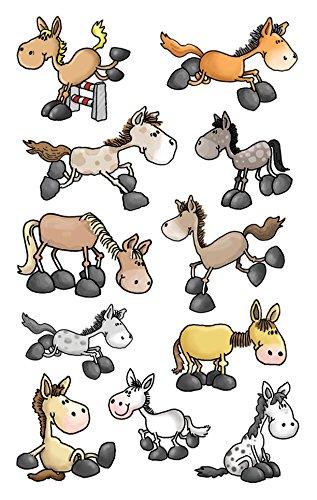 AVERY Zweckform 53192 Kinder Sticker Pferde 33 Aufkleber
