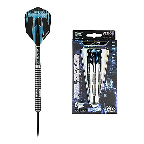 Target Darts Phil Taylor Power 8Zero Steel Tip Dartpfeile (25r), Natur, 25g