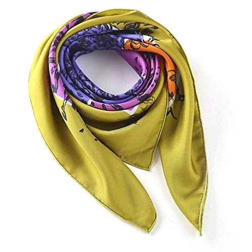 Udol Thicker Soft Scarves Ms. high-end European and American fashion comfortable, lightweight hand-rolled silk scarves silk scarves j1002 (Color : Color 1)