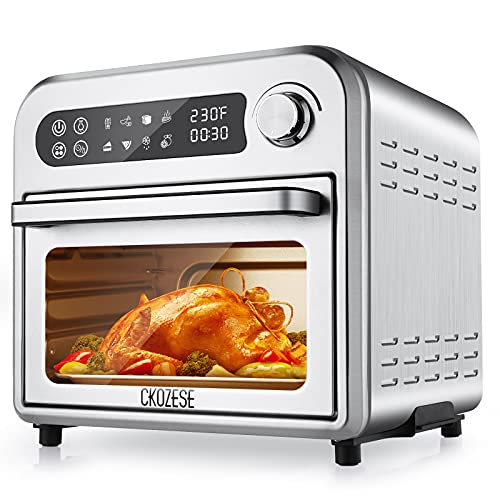 8-In-1 Compact Toaster Oven Air Fryer, 6-Slice Convection Oven Countertop with 6...