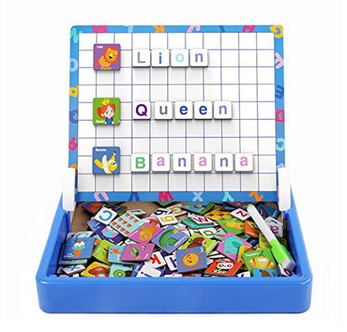 ZOSEN Lettere magnetiche Gioco di apprendimento Alfabeto Ortografia Giocattolo educativo prescolare per Bambini