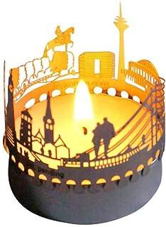 13gramm Düsseldorf-Skyline Windlicht Schattenspiel Souvenir