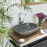 wohnfreuden Naturstein - Waschbecken Steinwaschbecken 60 cm  Unikat Auswahl nach Kauf