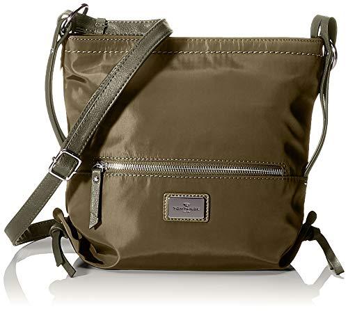TOM TAILOR Umhängetasche Damen Elin Nylon, Grün (Khaki), 27x27x6 cm, TOM TAILOR Handtaschen, Taschen für Damen, klein